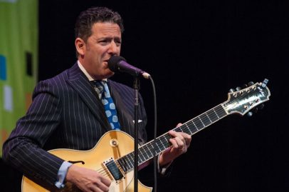 John Pizzarelli Quartet on California Theatre Stage. Photo credit: Grason Littles