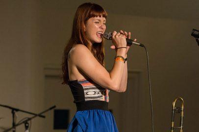 Natalie Cressman on Silicon Valley Stage. Photo credit: Grason Littles