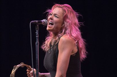 Storm Large on California Theatre Stage. Photo credit: James Knox