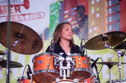 Terri Lyne Carrington on Main Stage. Photo credit: James Knox