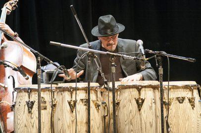 Jerry Gonzalez on California Theatre Stage. Photo credit: Daniel Garcia