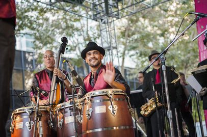 Pacific Mambo Orchestra on Salsa Stage. Photo credit: Daniel Garcia