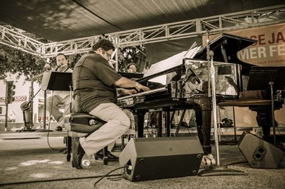 And more Latin jazz continued on the Main Stage as Arturo O'Farrill layed into his piano. Photo Credit: Jérôme Brunet