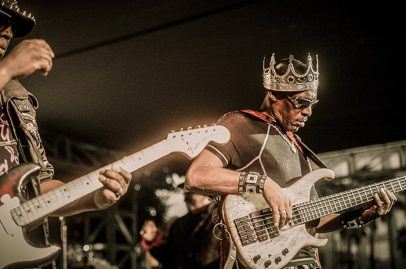 Meanwhile, the kings of Cameo ran around the Main Stage with familiar songs like Word Up! Photo Credit: Jérôme Brunet