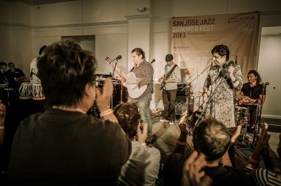 The crowd cheered on the Gypsy Allstars at this inaugural Jazz+ concert. Photo Credit: Jérôme Brunet