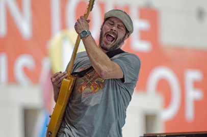 Saturday started off with a bang with Roger Belvins from Mingo Fishtrap ringing in the first sounds of the festival day. Photo Credit: Bruce Fram
