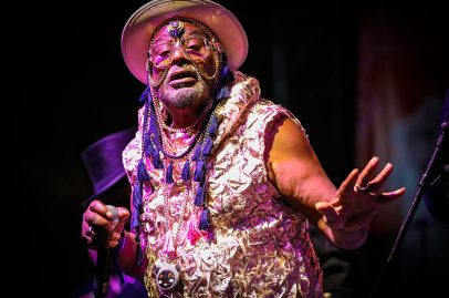 Back by popular demand, George Clinton and Parliament Funkadelic brought down the house Friday night at Summer Fest. Photo credit Robert Birnbach.