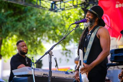 Pianist Robert Glasper and multi-instrumentalist Casey Benjamin showcased their fabulous interplay on the Sobrato Organization Main Stage Saturday afternoon, their first of two Summer Fest sets that day. Photo Credit: Robert Birnbach