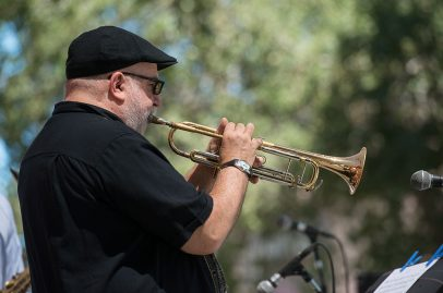 A staggering amount of jazz history took the stage when Jazz By 5 closed the Silicon Valley Community Organization Main Stage Sunday evening. Photo credit: James Knox.